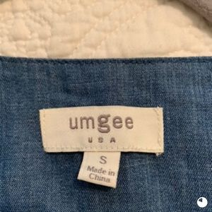 Umgee Tops - Boho denim top